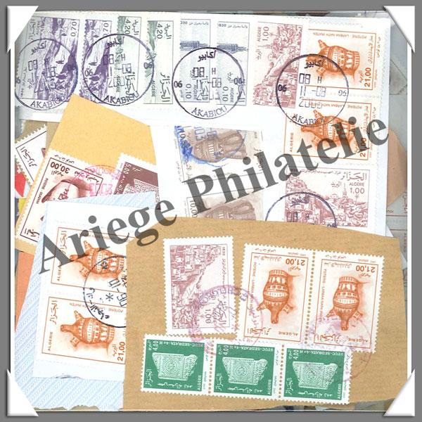 timbres sur fragments alg rie alg rie 100 grammes de timbres fragme. Black Bedroom Furniture Sets. Home Design Ideas